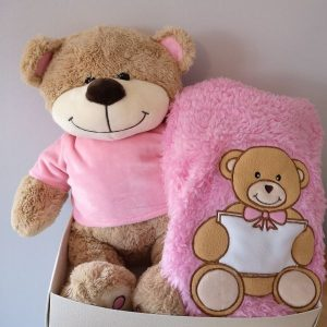 Personalise Teddy Hamper For Girl