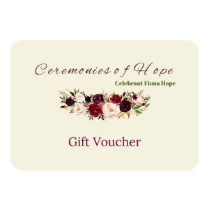 Fiona Hope Celebrant Gift Voucher