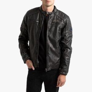 Petrol Faux Leather Jacket - 1