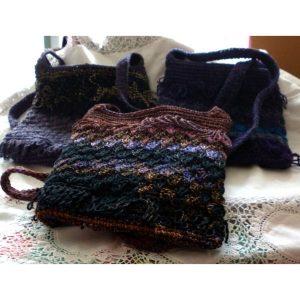 Hand crochet shoulder bags