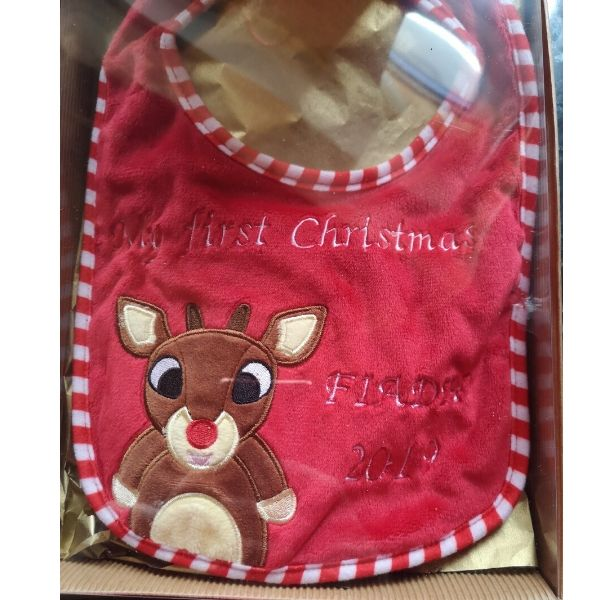 Personalised Christmas Bib