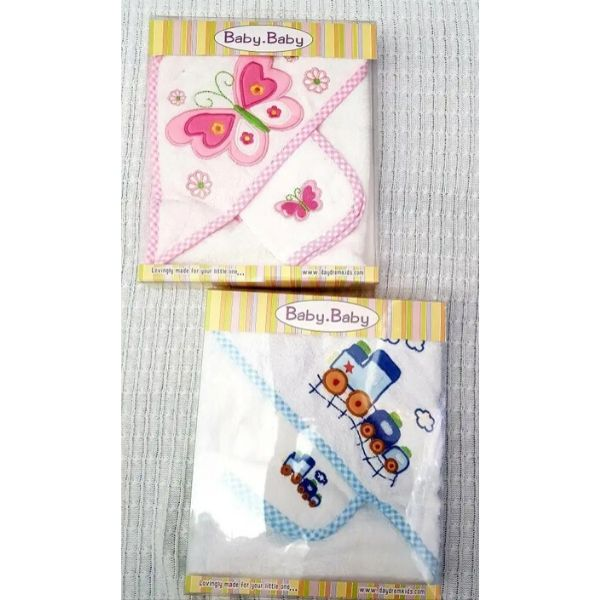 Boxed Hooded Towel and Mitt set