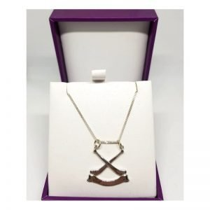 Sterling silver handmade camogie pendant