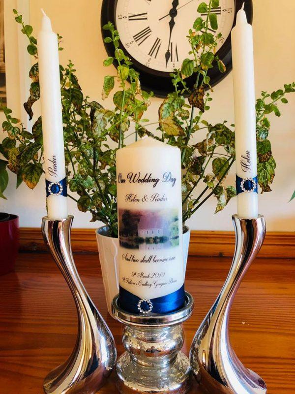 Wedding Candle with Photo