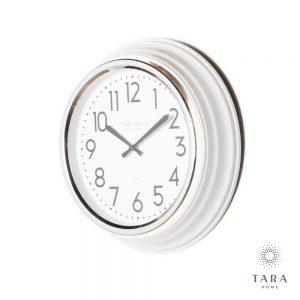 Retro Cafe Clock Ivory