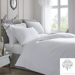 Plain Dye Duvet Set White