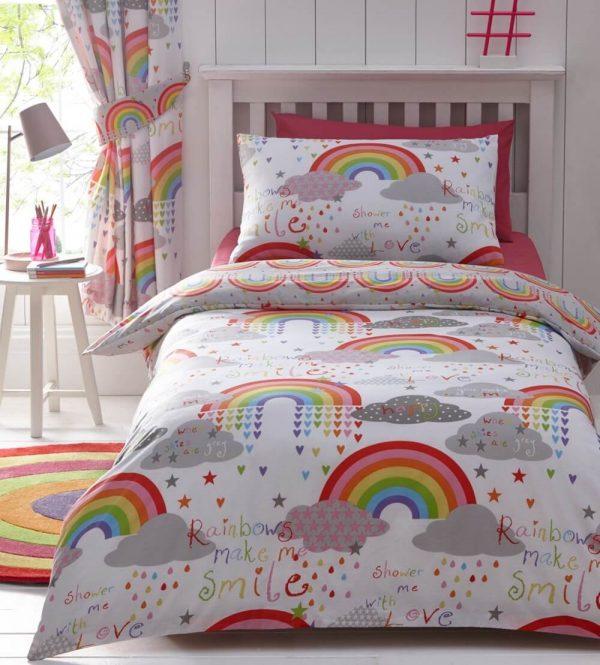 Clouds & Rainbows Duvet Set