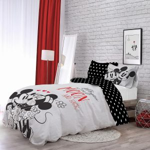 Minnie & Mickey Love Duvet Set