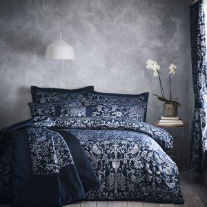 Oak Tree Midnight Blue Duvet Set