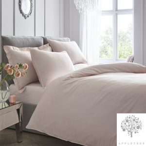 Appletree Plain Dye Blush Duvet Set