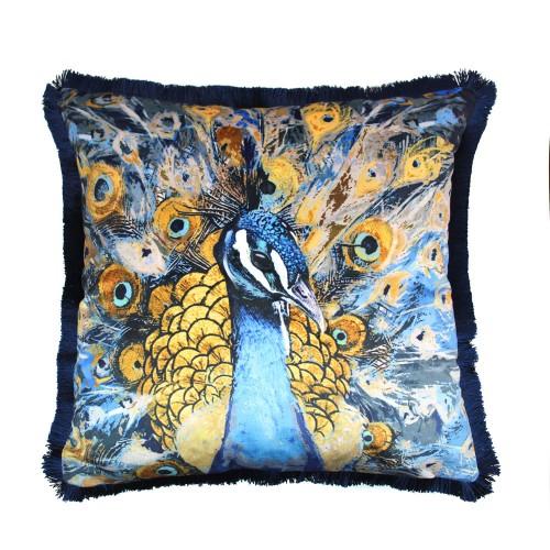 quinn blue cushion
