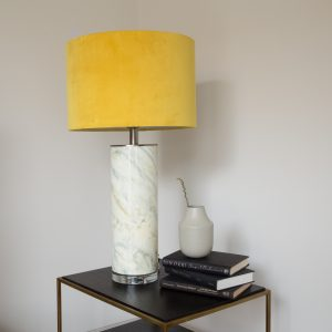 Table Lamp Abstract Mustard