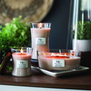 Woodwick Vanilla & Sea salt Candle