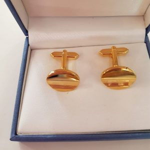 Yellow Gold Coloured Cuff Links