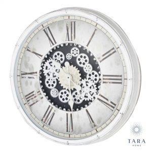 Gears clock Antique White