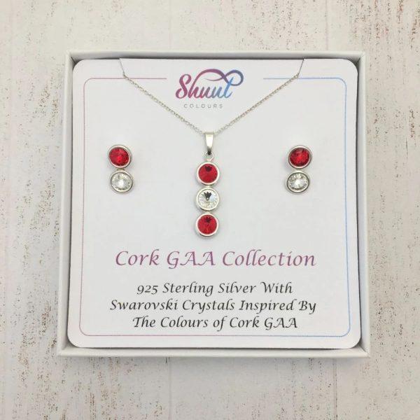 Cork GAA Gift Set - Pendant & Earrings