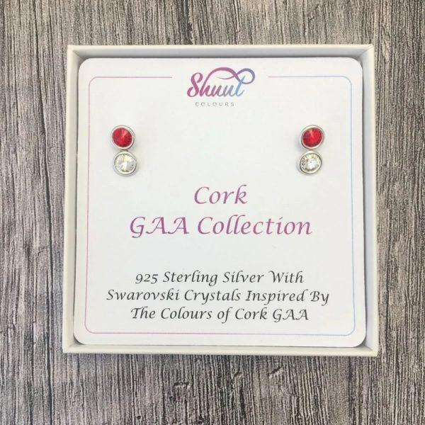 Cork GAA Gift - Sterling Silver Earrings