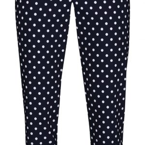 Robell Polka Dot Trousers in Navy and White