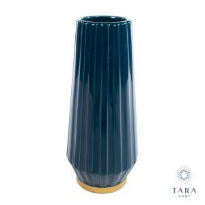 Milano Blue/Gold Vase