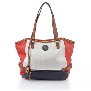 Red White Navy Handbag