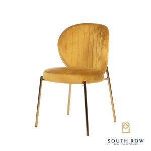 Diamond Stitch Accent Chair Mustard