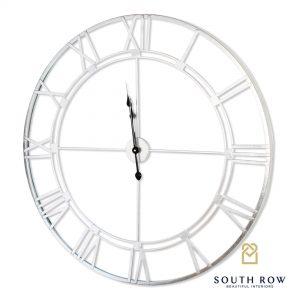 Alana Silver Wall Clock