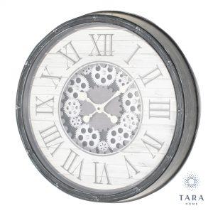 Gears clock Grey 50cm