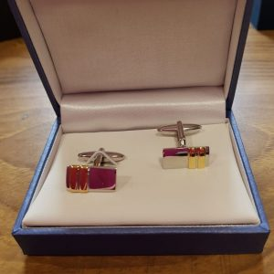 two tone cuff links