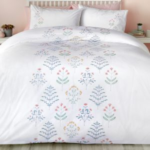 Flora White Duvet Set