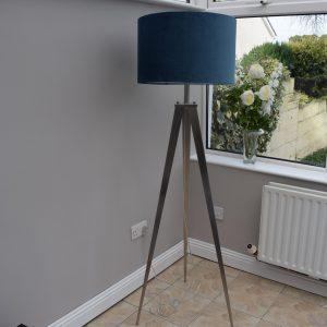 Navy Tripod Floor Lamp