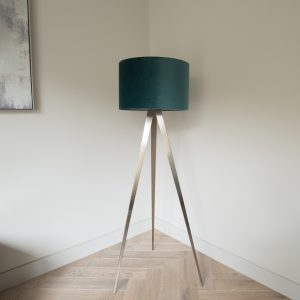 Teal Tripod Floor Lamp