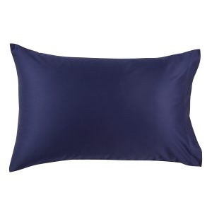 Christy 2 pack pillowcases navy 400tc cotton sateen