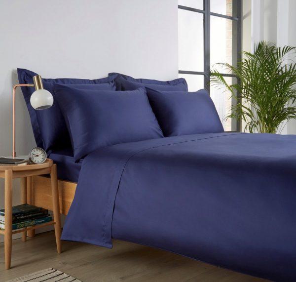 Christy 400tc navy standard pillowcases