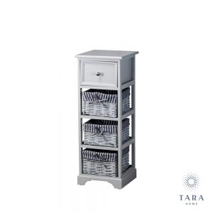 Chester 1 drawer 3 basket unit grey