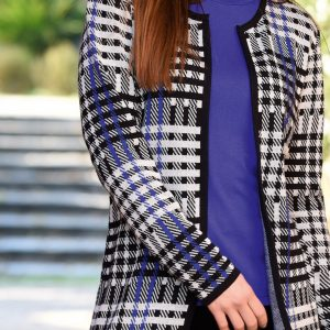 Black and White Houndstooth Cardigan