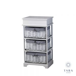 Chetsre 3 basket grey storage unit