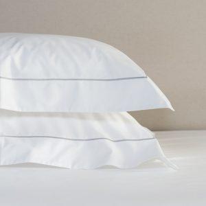 Saville Cord White Silver Bedding