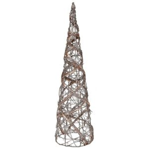 Small rattan cone tree with lights