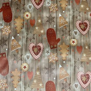Hearts & Trees Table Cloth Christmas