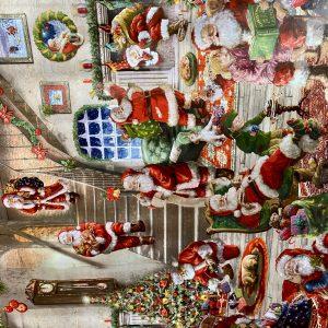 Santas Workshop Oil Cloth