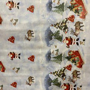 Winter Wonderland Christmas Oil Cloth