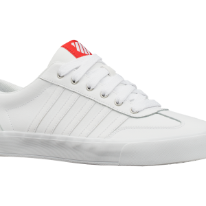ADDISON VULC LTR WHITE/HIGH RISK RED