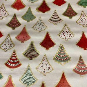 Scandi Trees Christmas Oil Cloth