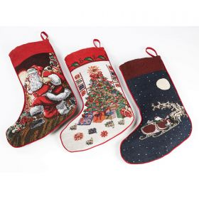Traditional Tapestry Christmas Stocking