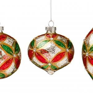 Traditional Hanging Bauble 3 shapes