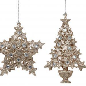 Gold Jewel Hanging Decoration Assorted