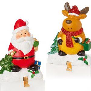Santa & Reindeer Stocking Hanger