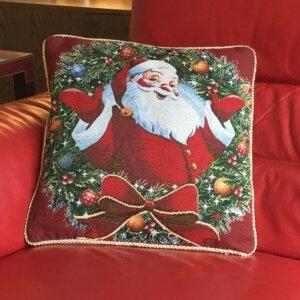 Santa Wreath Cushion Cover
