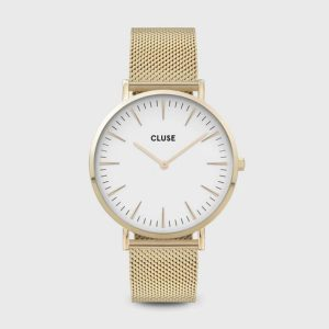 Cluse Gold Mesh Watch