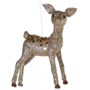 Mini Gold Glitter Deer